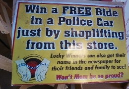 How to win a free ride in a police car