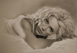 Celebrities drawn in pencil